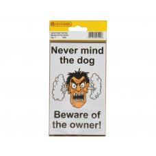 95mm x 150mm Home Safe Pack 'Never Mind The Dog...' (Pack of 2)