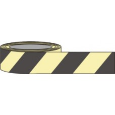 80mm x 10m Black Chevron Photoluminescent Tape