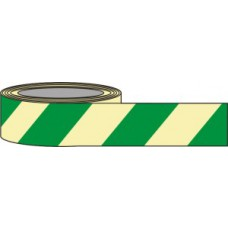 80mm x 10m Green Chevron Photoluminescent Tape