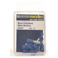 4mm Blue Insulated Male Bullets  (Pack of 10)