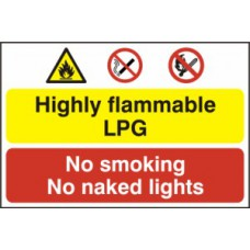 Highly flammable LPG No smoking or naked lights - PVC (600 x 400mm)