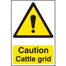 Caution Cattle grid - Corex (200 x 300mm)