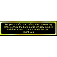 For your comfort and safety when showering ... - POL (200 x 50mm)