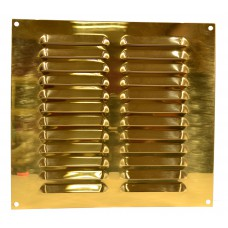 Louvre Vent - Solid Brass - 229 x 229mm