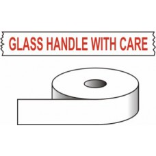 Glass Handle with care - printed tape (50mm x 66m)