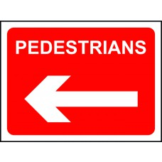 Pedestrians arrow left - TriFlex Roll up traffic sign (600 x 450mm)