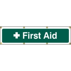 First aid - (with seperate arrow) BAN (1200 x 300mm)
