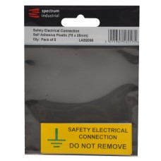 Safety Electrical Connection Do Not Remove - Pack of 5 PVC (75 x 25mm)