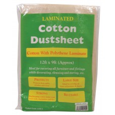 12' x 9' Cotton Twill/Poly Back Dust Sheet (1.6kg)