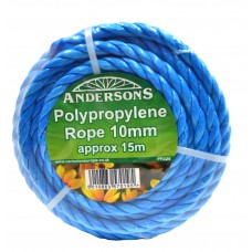 10mm x 15m Polypropylene Rope Mini Coils