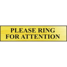 Please ring for attention - BRG (220 x 60mm)