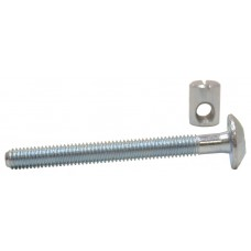 M6 x 60mm ZP Furniture Bolts & Nuts  (Pack of 2)