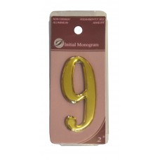 """2"""" Gold Effect Numeral 9"""