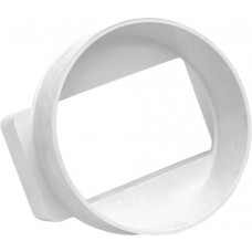 100mm Round to Rectangle Male Adaptor