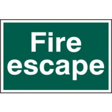 Fire escape (text only) - PVC (300 x 200mm)