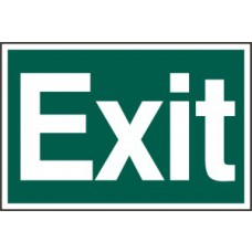Exit (text only) - PVC (300 x 200mm)
