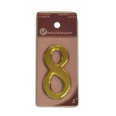 """2"""" Gold Effect Numeral 8"""