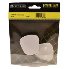 White Plastic Childsafe Socket Insert (Pack of 2)