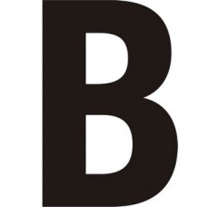 150mm Black Self Adhesive Vinyl Letter B   (Pack of 5)