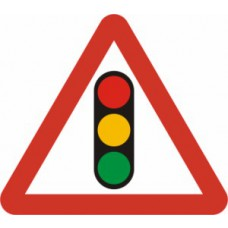 600mm tri. Temporary Sign & Frame - Traffic Lights