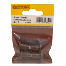 Brown Cabinet Connecting Screws (Pack of 2)