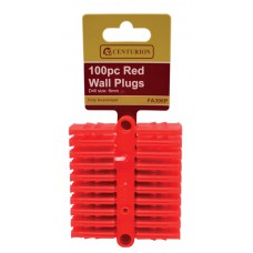 Red Wall Plugs 100pc