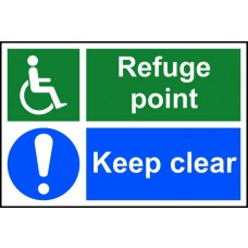 Refuge point keep clear - RPVC (300 x 200mm)