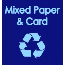 Warehouse Recycling Sack 'Mixed Paper & Card' - (920 x 1000mm)