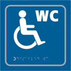 Disabled WC symbol - Taktyle (150 x 150mm)