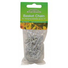 "Hanging Basket Chain with Hooks - 350mm (14"")"
