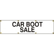 Car boot sale - (with seperate arrow) BAN (1200 x 300mm)