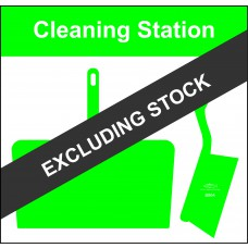 Shadowboard - Cleaning Station Style D (Green) With Hooks - NO STOCK