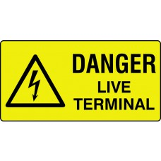 Danger live terminal - Labels (50 x 25mm Roll of 250)