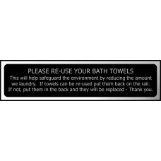 Please re-use your bath towels ... - CHR (200 x 50mm)