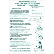 How to treat an electric shock casualty - PVC (400 x 600mm)