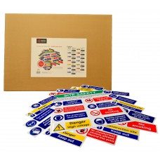 Build Your Own Composite Sign Kit - RPVC (650 x 650mm) Complete with 12 signs