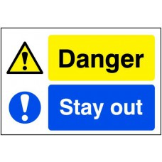 Quarry Sign: Danger / Stay out - FMX (600 x 400mm)