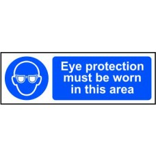 Eye protection must be worn in this area - RPVC (600 x 200mm)