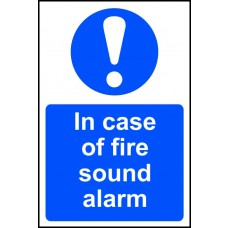 In case of fire sound alarm - PVC (200 x 300mm)