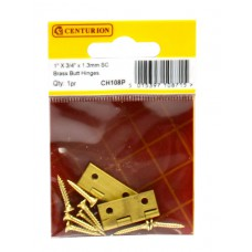 "1"" x 3/4"" x 1.3mm SC Medium Duty Solid Drawn Butt Hinges (1 pair)"