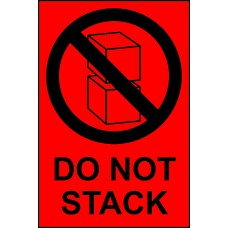 Do not stack - Paper Packaging Labels (100 x 150mm Roll of 1000)