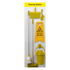 Shadowboard - Cleaning Station Style B (Yellow)