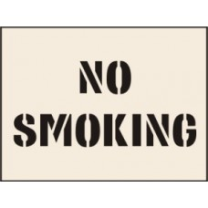 No Smoking Stencil (400 x 600mm)