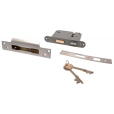 "75mm (3"") Chromed 5 Lever BS3621 Mortice Sash Lock"