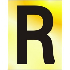 75mm Pol. Gold Effect - Character 'R'