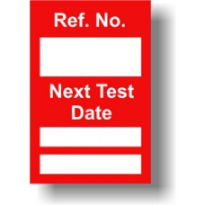 Next Test Mini Tag Insert - Red (Pack of 20)