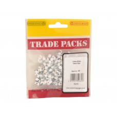 Cable Clip - White - 3.5mm (100 PK)