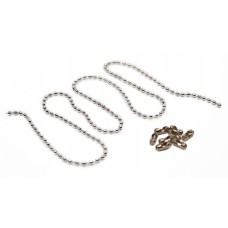 5pcs of 100mm Tag Chain (Chrome Plated 3.2mm Ball Chain), 5 Chain Clasps