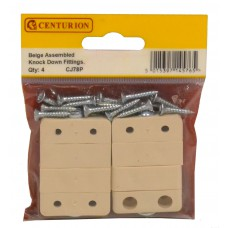 Beige Assembled Knock Down Fittings (Pack of 4)