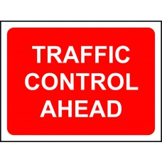 Traffic Control Ahead - TriFlex Roll up traffic sign (1050 x 750mm)